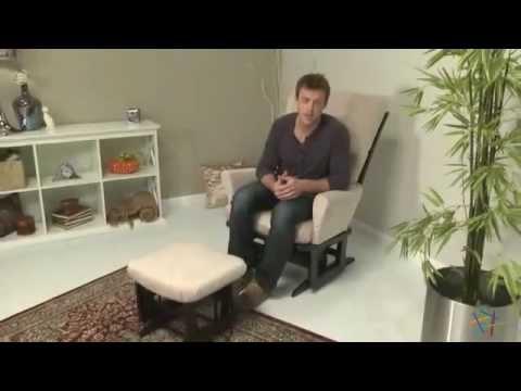 Dutailier Modern Grande Glider In Espresso Velvet Beige Product Review Video