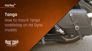 How to mount Tango saddlebag on Hd Dyna models- Ends Cuoio