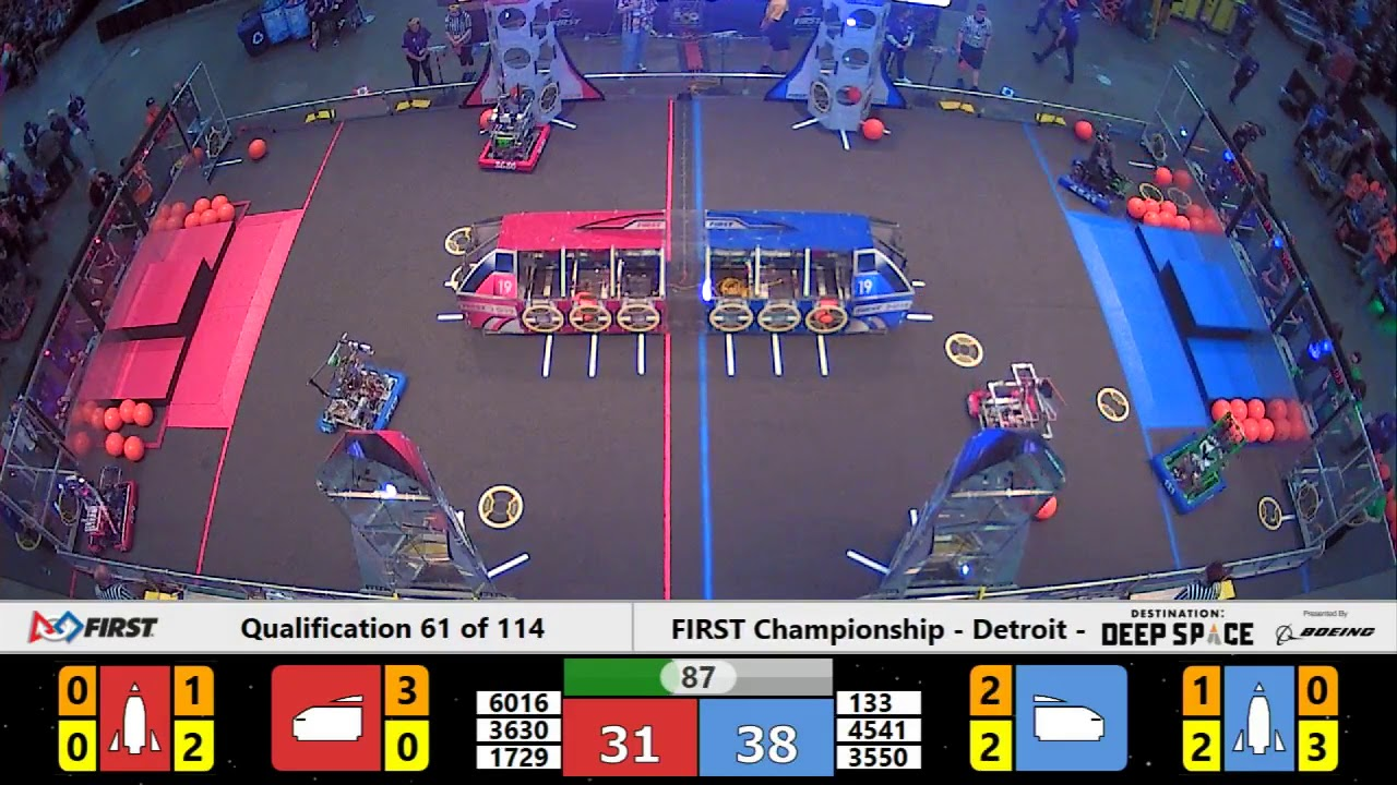 Qualification 61 - 2019 FIRST Championship - Detroit - Daly Subdivision