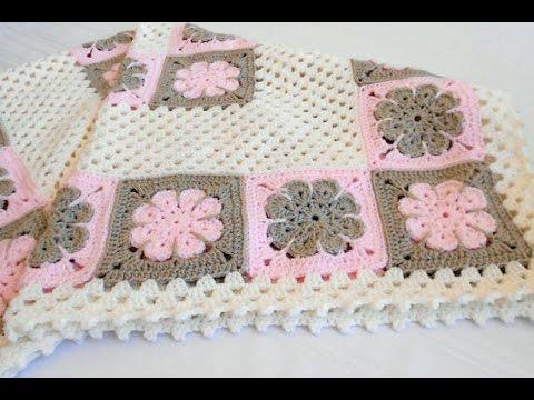 Baby Blanket Easy Cute Hand Knitted Baby Blanket Youtube