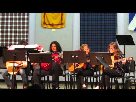 Dunedin Highland Middle School - 2015 Winter String Concert - Guitar Quartet