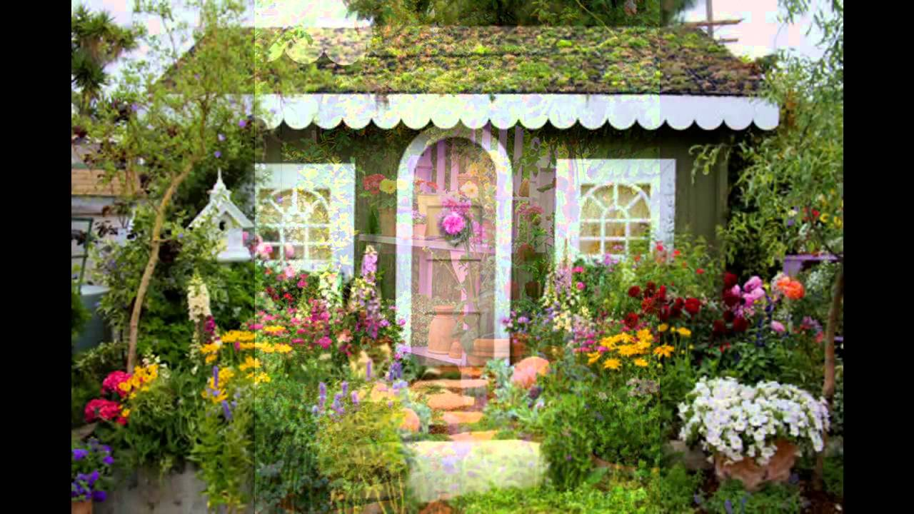 Beautiful Cottage garden design decorations YouTube