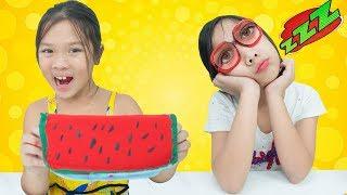 Cách Làm Chiếc Ví Dưa Hấu và Kính Ngủ ❤ Lớp Học Nhí Nhố - Trang Vlog