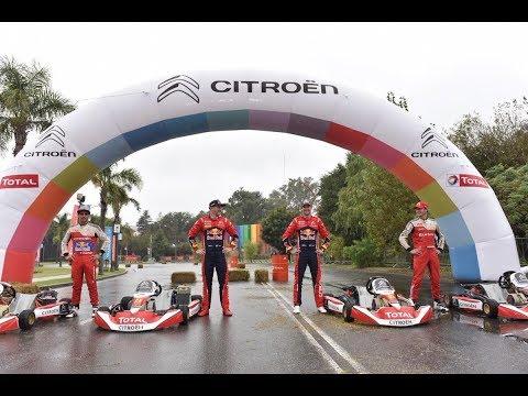La exhibición en karting de los pilotos del Súper TC2000 y WRC