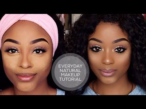 natural everyday makeup tutorial using drugstore