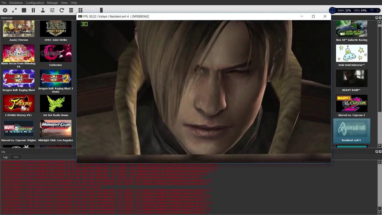 [PS3 Emulator] RPCS3 - Resident Evil 4 HD 30 FPS Vulkan-LLVM Test#02