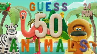GUESS THE ANIMAL | Learn ABC and 50 animals easily | Talking ABC