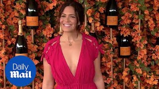 Mandy Moore takes the plunge in hot pink dress at Polo Classic