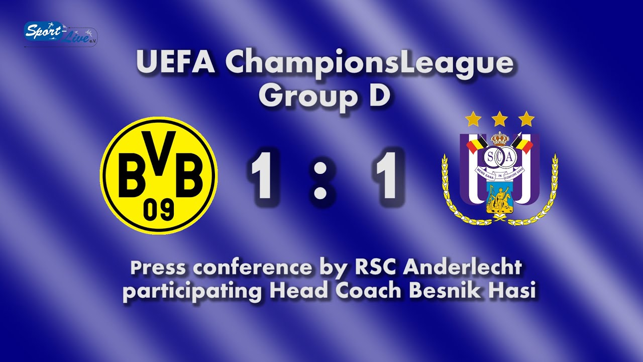 Pressekonferenz CL nach BVB - RSC Anderlecht 1:1 Pk mit Besnik Hasi