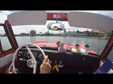 Take an Amphicar ride at The Boathouse restaurant at Downtown Disney