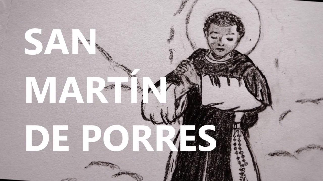San Martin De Porres Dibujo A Carboncillo Youtube