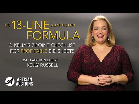 The Formulas For Profitable Bid Sheet | Artisan Auctions with Kelly Russell
