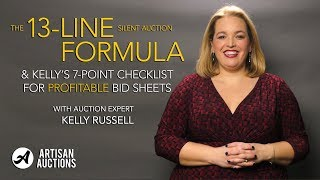 Benefit Gala Tutorial | How To Format Profitable Bid Sheets