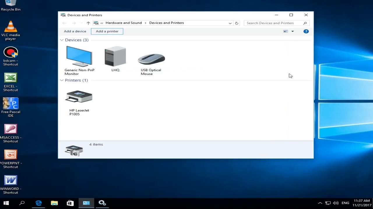 "Sửa Lỗi: ""Windows can't open add printer"""