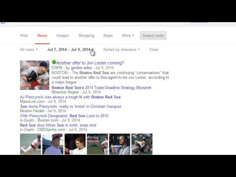 Google Chrome How To Use Advanced News Search