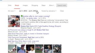 Google Chrome: How to use Advanced News Search