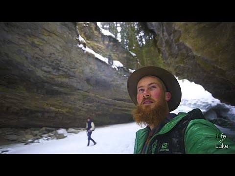 Rockies Winter Roadtrip - Natural Bridge, Johnston Canyon