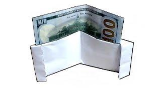 DIY - Как сделать оригами КОШЕЛЕК для банкнот из бумаги А4 своими руками?