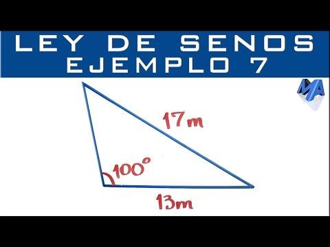 Ley De Senos | Ejemplo 7 | Solucionar El Triángulo