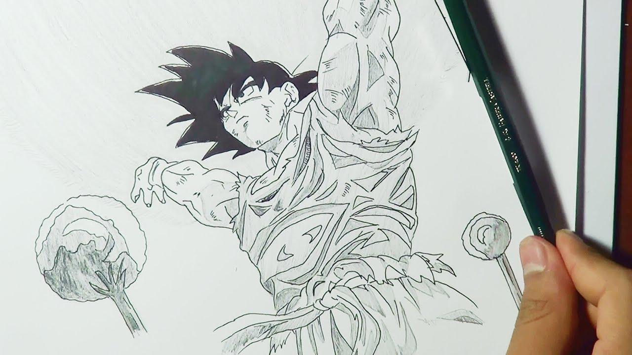 dibujando a Goku haciendo la Genkidama  YouTube