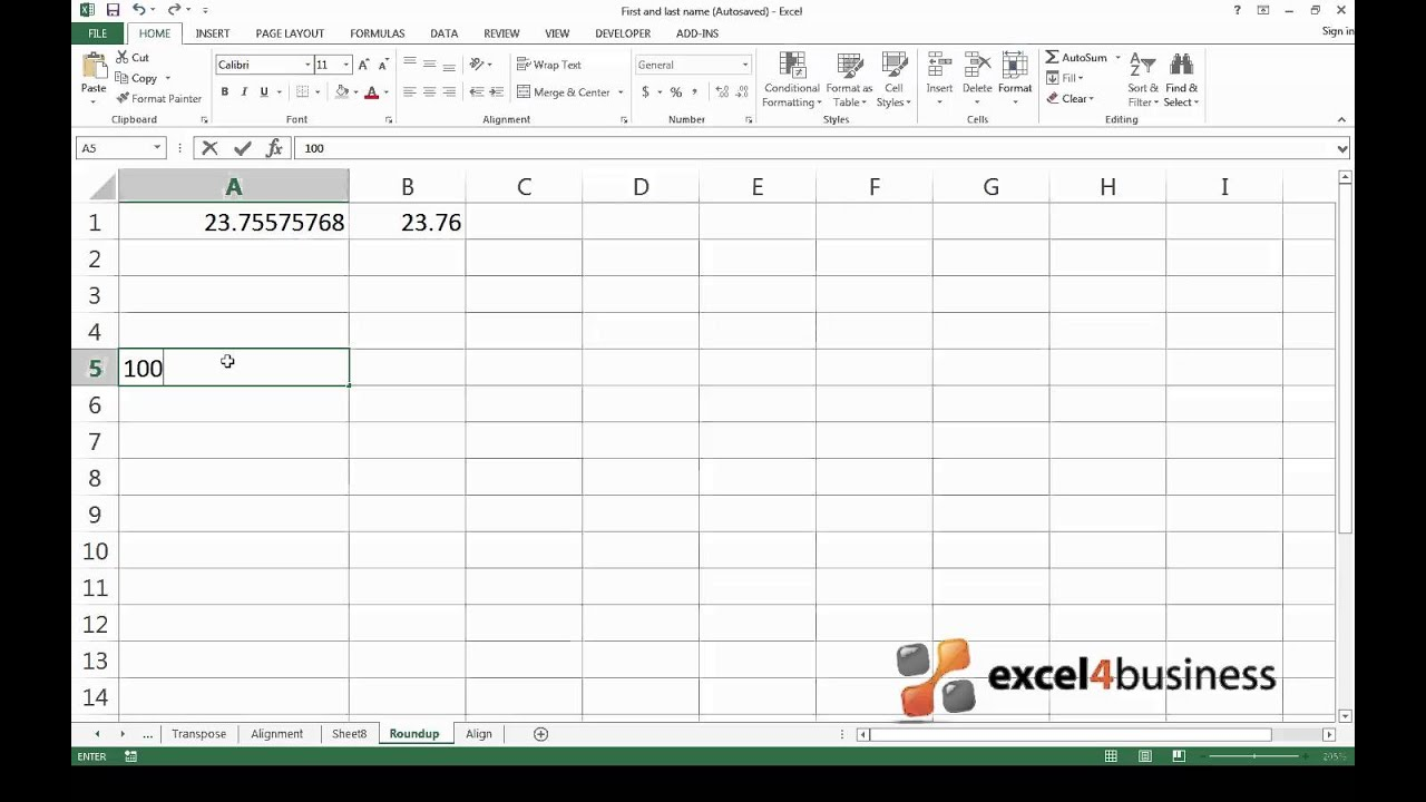 Rounding in Excel is easy
