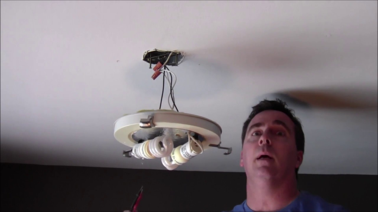 How To Install An Led Light Fixture Youtube Ceiling Wiring