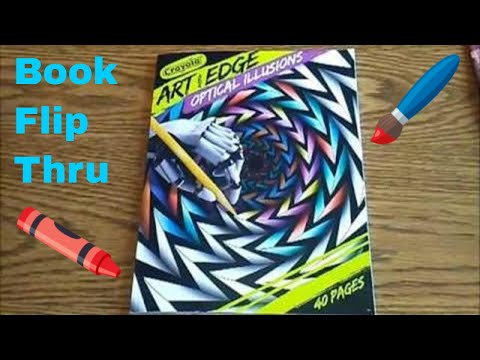 Art With Edge Optical Illusions Coloring Book Flip Thru With Music