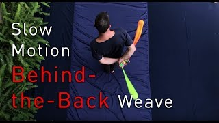 Forward Behind the Back Weave: Slow Motion Poi Spinning Lesson