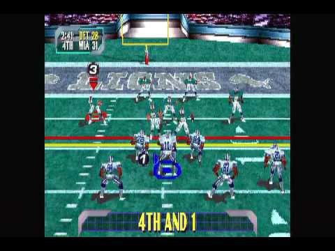 Blitz 2000 - Detroit Lions vs Miami Dolphins (Ridiculous Hail Mary Ending!!)