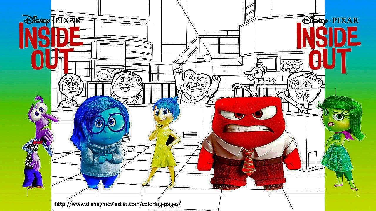 Disney Pixar S Inside Out Watch Joy Sadness Disgust Anger Fear Come To Life In Colour Youtube