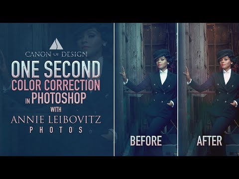 One Second Color Correction in Photoshop with Annie Leibovitz Photos - 4K