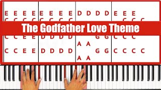♫ ORIGINAL+VOCAL - How To Play The Godfather Love Theme Piano Tutorial Lesson! - PGN Piano