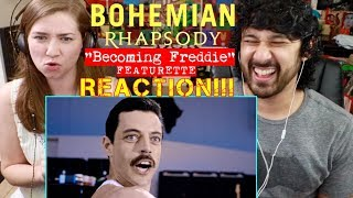 BOHEMIAN RHAPSODY | Becoming Freddie Featurette - REACTION!!!