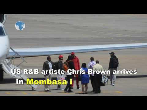 Chris Brown and Wiz Kid arrive in Mombasa