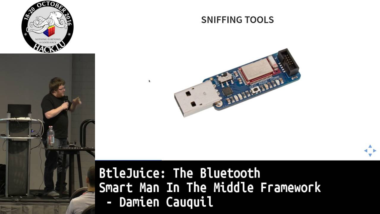 Hack lu 2016 BtleJuice: the Bluetooth Smart Man In The Middle Framework by  Damiel Cauquil