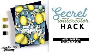 Secret Watercolor Hack   Alex Syberia Lemon Blossom