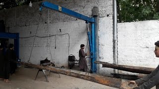 How to make a handmade hydraulic  weight lifting crane
