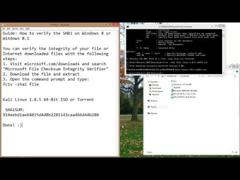 Guide: How to verify SHA1 or MD5 of a file on Windows 8 or ...