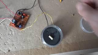 Простые звуковые опыты с генератором звука