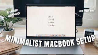 SETTING UP MY NEW 16 INCH MACBOOK PRO & HOW I CUSTOMIZE IT  (aesthetic + minimalist)