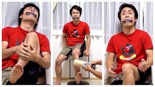 忙しい人のためのスネハーモニカ Attack on shin harmonica challenge #Shorts