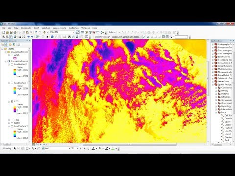 Calculating Land Surface Temperature Landsat8 by ArcGIS