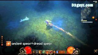 Diablo3-Barbar-Fertigkeit-Speer der Urahnen+Schreckensspeer