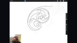 How to draw Scroll work for metal engraving