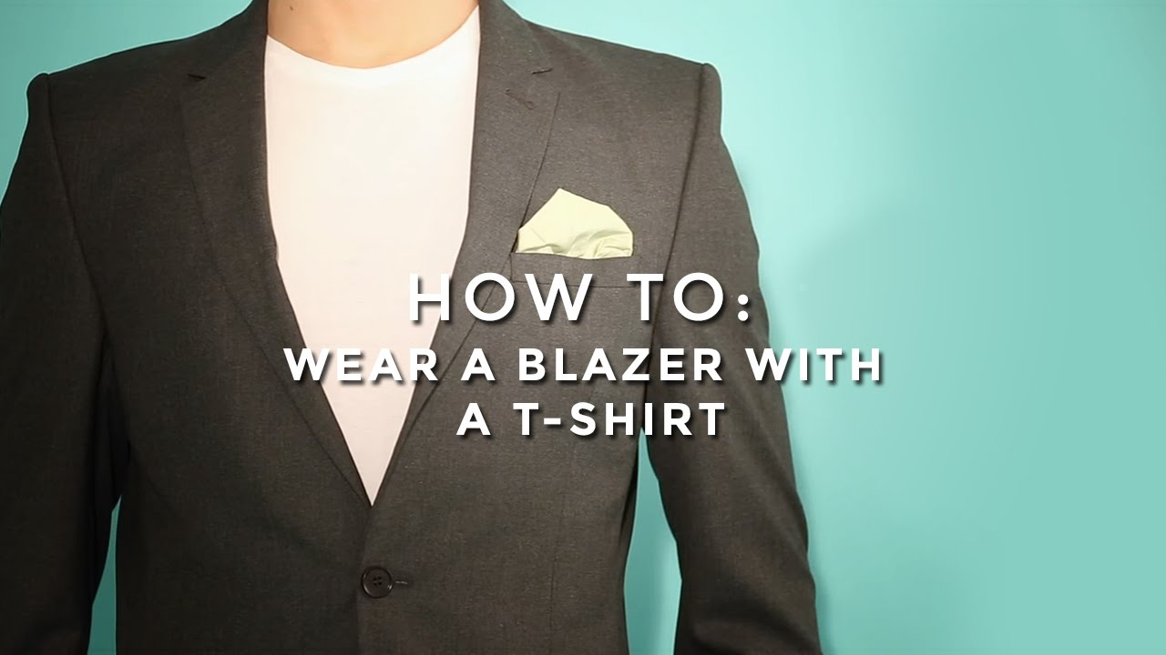 How to Wear a Blazer with a T-Shirt
