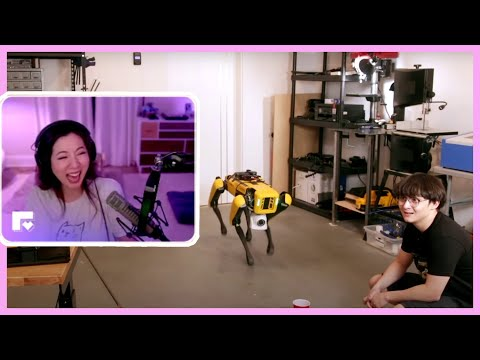fuslie reacts to Teaching a Robot Dog to Pee Beer