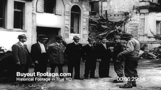 HD Stock Footage WWII Post War Cologne After German Defeat 1945 Screen Magazine # 66 Reel 1