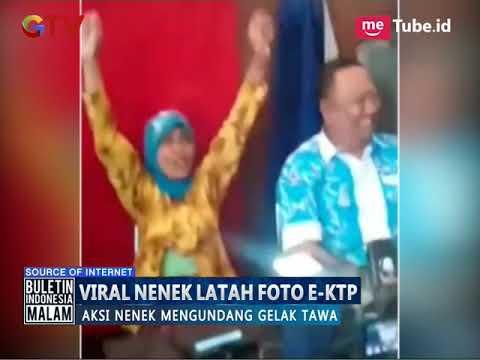 Viral!! Video Lucu Nenek yang Latah Kaget Saat Pengambilan Foto untuk E-KTP - BIM 17/10
