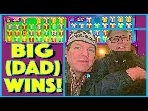 DAD & BRENT WIN BIG!!  DAD PICKS, WE GAMBLE (& WIN!) SO MUCH FUN!! Slot Machine Pokies