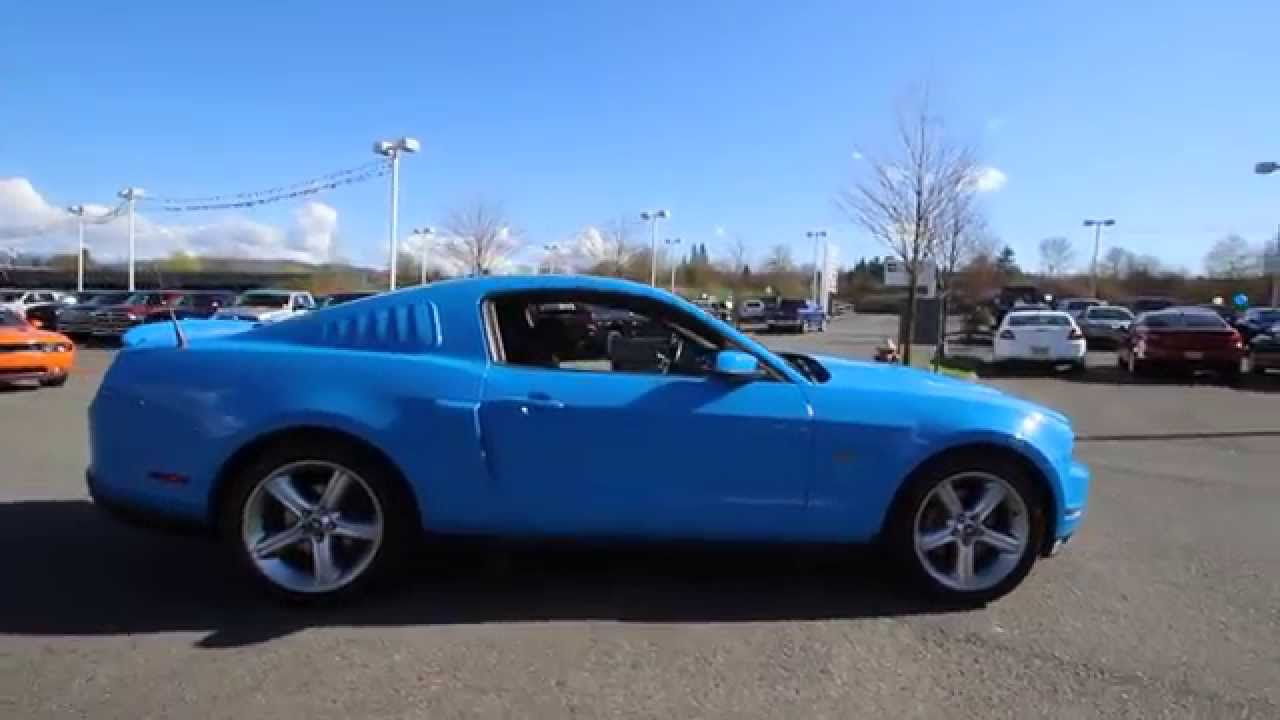 2010 Ford Mustang Grabber Blue A5139794 Everett Snohomish